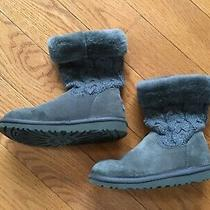 Pre-Owned Ugg Kids Juniper Confetti Charcoal Boots 1013250k Size 3 Photo