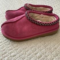 Pre-Owned Without Boxgirls 4 Azalea Pink Ugg Tasman Ii Suede Sheepskin Slippers Photo
