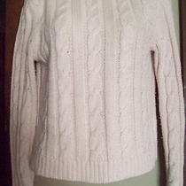 Pre-Owned  Women's Express Off White Cable Sweater  Size Medium Photo