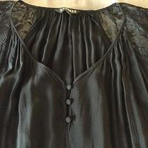 Pre Owned Women's Xs Short Sleeve Black Blouse From Express Photo