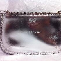 Pre-Owned100%Aut Anya Hindmarch Silver Leather Pasport/ticket Case Wallet Photo