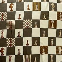 Precious Vintage French Silk Designer Scarves -- Fendi a Game of Chess Photo