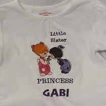 Precius Moments Little Sister Shirt Personalized Name and Hair Color. Embroidery Photo