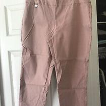 Premise Blush (Light Pink) Pull on Elastic Capris Pants - Sz L Large Photo
