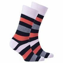 Premium Men's Red Blush Stripe Socks Photo