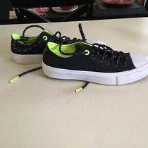 Preown Pair of Boys Authentic Black Converse Sneaker  Sz 5 Photo