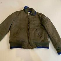 Preowned  450 Diesel Mens Joscua Jacket in Olive Green in Size L Photo
