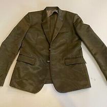 Preowned 480 Diesel Elegant Mens Jacket in Size L Olive Green Photo