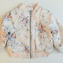 Preowned Baby Gap Girl Toddler Jacket 2 Years Zipper Floral Light Pink  Photo