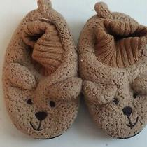 Preowned Baby Gap Toddler Bear Slippers Size M (7/8) Photo