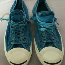 Preowned Converse Jack Purcell Faded Teal Sneakers Men's Sz 10 Women's Sz 11.5 Photo