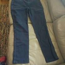 Preowned Gap Girlfriend Chinos Trouser Casual Khakis Navy Blue Stretch Size 2 Photo
