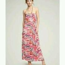 Preowned Gap Women's Floral Strapless Sundress Size L Photo