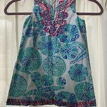 Preowned Lilly Pulitzer for Target Blue and Multicolor Shift Dress Girls Size 3t Photo