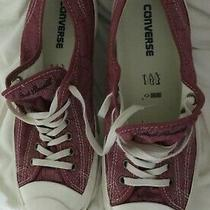 Preowned Mens Converse Jack Purcell Burgandy/tan Design Canvas Sneakers Size 10 Photo