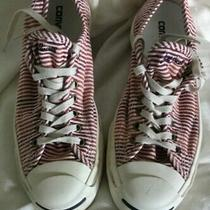 Preowned Mens Converse Jack Purcell Faded Stripe Red/white Sneakers Size 9.5 Photo