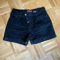 Preowned Vintage Gap Button Front Denim Black Shorts Women's Size 10 Photo