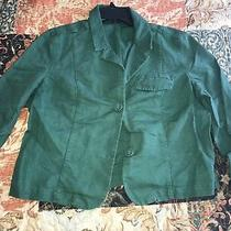 Preowned Women's Gap Linen Cropped Blazer in Green Size 16 Photo