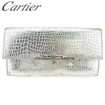Press Cartier Length With Wallet Zipper Purse Ladies Panther Silver Type  (7300 Photo