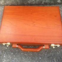 Presto Briefcase Wooden Wood Rosewood Fancy Classy Combo Combination Locking  Photo