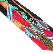 Pretto Tie - Black Prism Colorful Art Deco Luxury Silk Necktie Photo