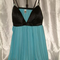 Pretty Aqua/black Pleated Baby Doll From Lady Princess Size 36c a Little Cutie Photo