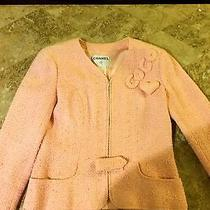 Pretty Authentic Coco Chanel Classic Pink Boucle Tweed Skirt & Jacket 42/44 Photo