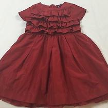 Pretty Baby Gap Size 2 Years Red Ruffle Tulle Lined Short Sleeve Holiday Dress Photo