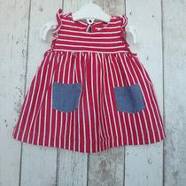 Pretty Baby Girl Red & White Striped Dress - Gap (0 - 3 Months)  Photo