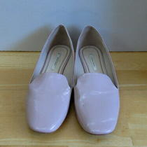 Pretty Blush Patent Loafers With Gold Heels From Zara - Size 37 Photo