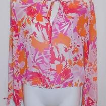 Pretty Express Sheer Floral Top Blouse Szs Photo