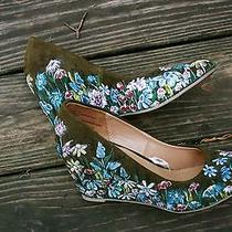 Pretty Flowery Heels 8 1/2 One of a Kind Art Hand Painted Shoes by Lucky H Art  Photo