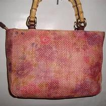Pretty Fossil Relic Painted Straw Handbag Photo