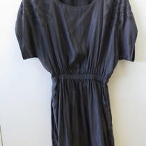Pretty Grey With Embleshment Details Dress From Express - Size S Photo
