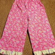 Pretty Hanna Andersson Size 120 Three Sisters Pink Floral Capri Pants Photo