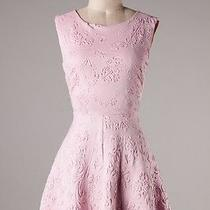 Pretty in Pink Floral Texture Vtg Keyhole Dress  M & Anthropologie Gift  Photo