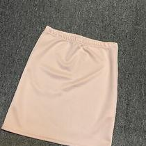 Pretty Little Thing Bnwot New Peach Blush Uk 10 Shorty Stretchy Skirt Photo