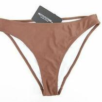 Pretty Little Thing Deep Brown Cheeky Bum Bikini Bottom Uk12 Plt12 Photo
