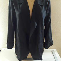 Pretty Rebellious Cropped Open Blazer Black Slight Sheen Size.- Medium New Tags Photo