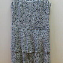 Pretty Silk Duck Blue Dots Tiers Dress From Talbots - Size 8 Photo