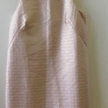 Pretty Soft Pink With Gold Thread Pattern Dress From Ann Taylor - Size 8 Photo