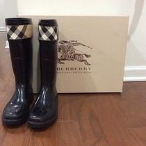 Price Reduced Authentic Burberry Rainboots Size 5 Photo
