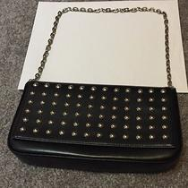 Price Reduced Express Black Leather Purse Shoulder Bag Studs & Chain Strap Photo