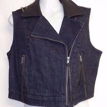 Princess Vera Wang Embellished Motorcycle Vest Size L Juniors New Without Tag Photo