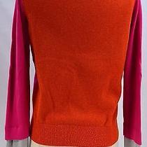 Princess Vera Wang Multi Color Cardigan Button Sweater Fine Knit Top v Neck S   Photo