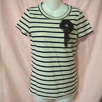 Princess Vera Wangt-Shirt With Fabric Broachcream W/ Navy Stripessize Small Photo