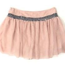 Princess Vera Wang Womens Mini Blush Flare Layered Sequins Tulle Skirt Size 5 Photo
