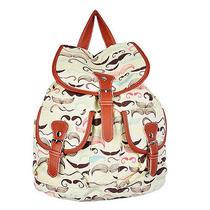 Print Mustache Canvas Travel Rucksack Hobo School Bag Satchel Bookbags Backpack Photo