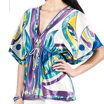 Printed Charmeuse Top Photo