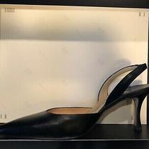 Pristine Beautiful Manolo Blahnik Carolyne Leather Black 37 Original 695. Photo